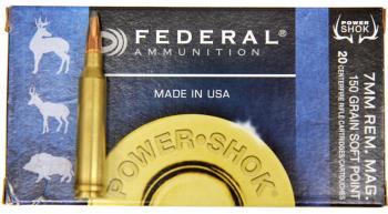ライフル実包 FEDERAL フェデラル 7mmRemMag 150SP 7RA 20発入り
