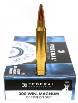 ライフル実包 FEDERAL フェデラル 300WINMAG 150SP 300WGS 20発入り