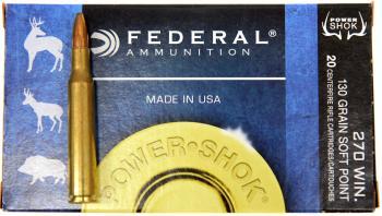 ライフル実包 FEDERAL フェデラル 270 130SP 270A 20発入り