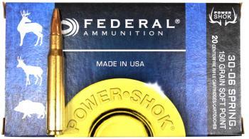 ライフル実包 FEDERAL フェデラル 30-06 150 3006A 20発入り