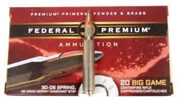 ライフル実包 FEDERAL フェデラル 30-06 165 P3006D 20発入り