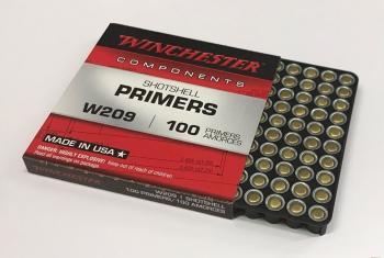散弾銃用雷管 Winchester ウィンチェスター W209 100入り