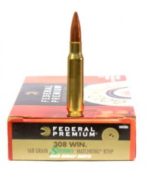 ライフル実包 FEDERAL フェデラル 308win 168 GM308M 20発入り
