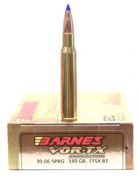 ライフル実包(銅) BARNES バーンズ 30-06 180 TTSX 20発入り