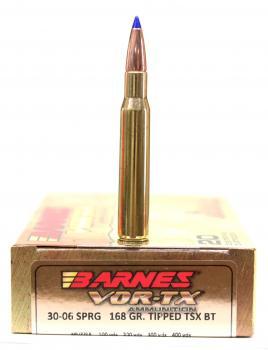 ライフル実包(銅) BARNES バーンズ 30-06 168 TTSX 20発入り