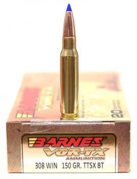 ライフル実包(銅) BARNES バーンズ 308win 150 TTSX 20発入り