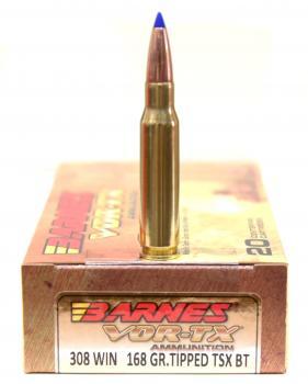 ライフル実包(銅) BARNES バーンズ 308win 168 TTSX 20発入り