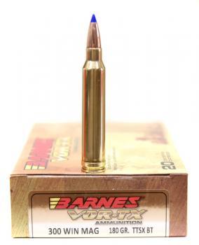 ライフル実包(銅) BARNES バーンズ 300WinMag 180 TTSX 20発入り