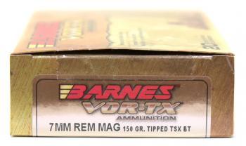 ライフル実包(銅) BARNES バーンズ 7mmRemMag 150 TTSX 20発入り