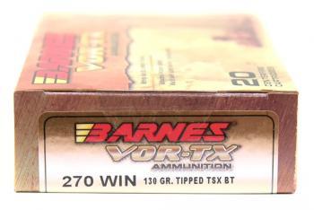 ライフル実包(銅) BARNES バーンズ 270win 130 TTSX 20発入り