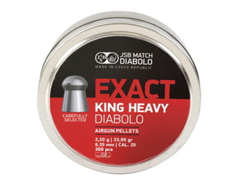空気銃弾 DIABOLO Exact King Heavy 6.35mm 33.95gr 300入