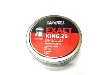 空気銃弾 DIABOLO Exact King 25 6.35mm 25.39GR 350発入