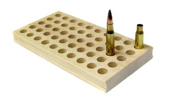 木製カートリッジ トレイ 6mm BR, 308, 30-06, 270用